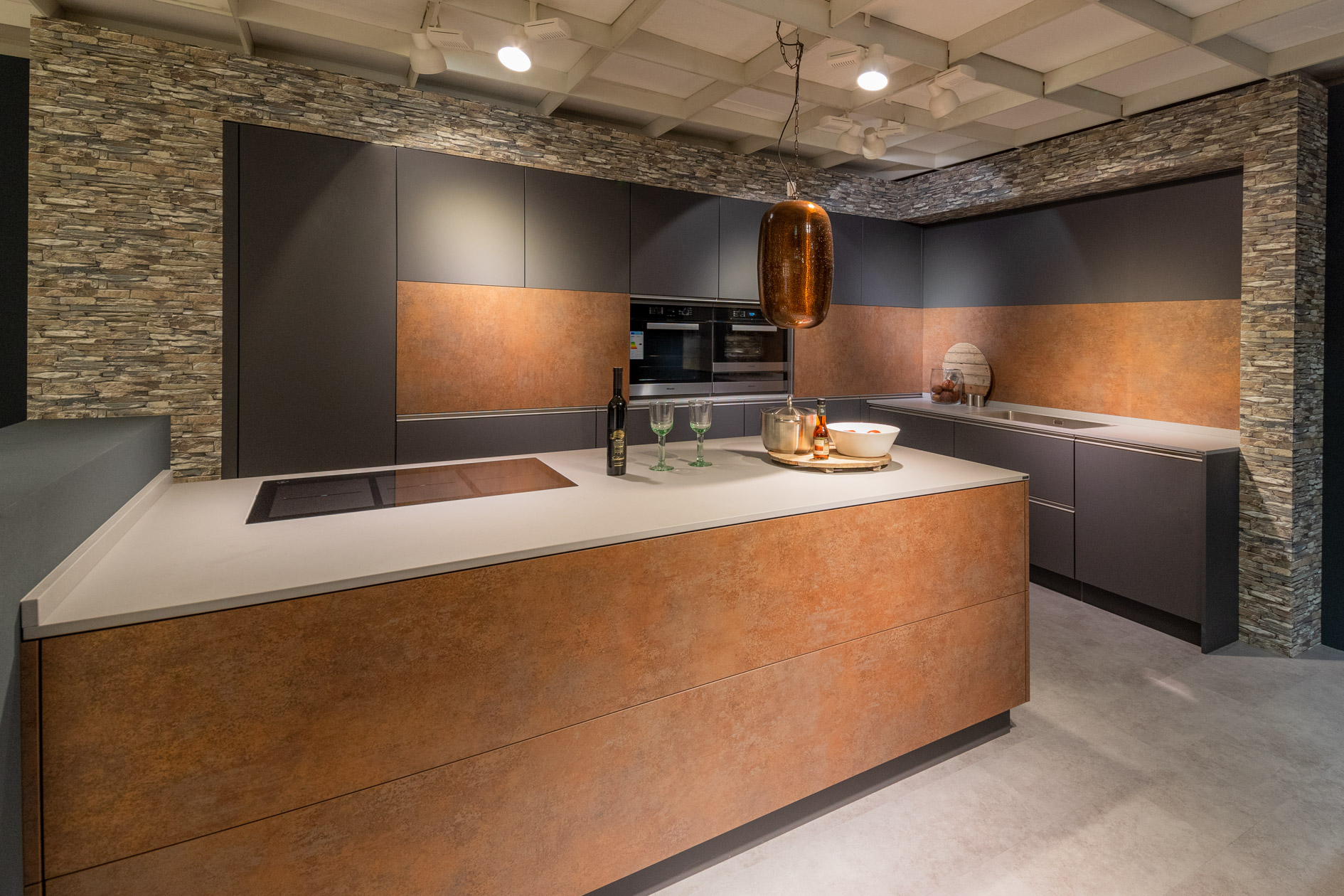 Küche modern und rustikal, Möbelhaus Rivo Fautenbach ...